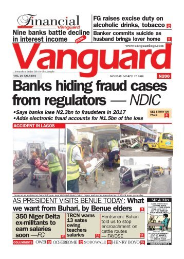 12032018 - Banks hiding fraud cases from regulators — NDIC