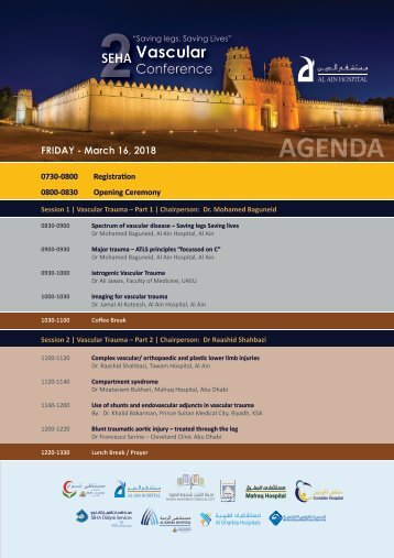 SEHA 2nd Vascular Conference program