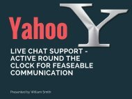 Yahoo Amazing LiveChat Services You Can't Even Miss!!!