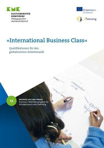 International Business Class: Erasmus+ und eTwinning an einer berufsbildenden Schule