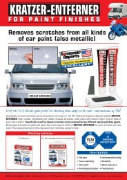 KRATZER-ENTFERNER Removes scratches from all kinds of car paint