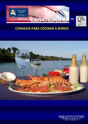CONSEJOS PARA COCINAR A BORDO - Alvarez