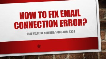 1-800-819-6334 | Fix Email Connection Error