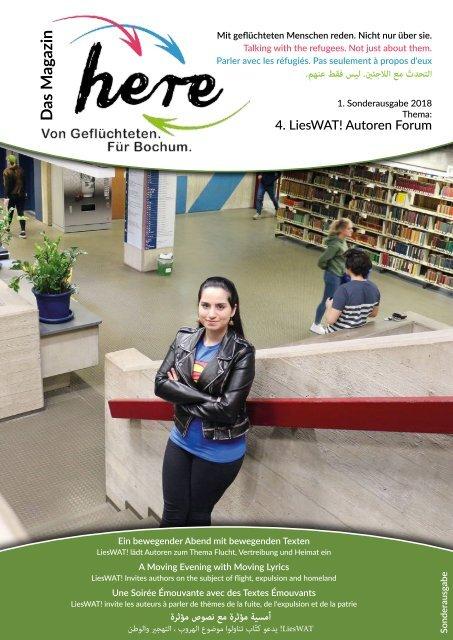 here – Das Magazin. Von Geflüchteten. Für Bochum – Sonderausgabe LiesWat