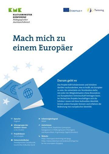 """Projektkit """"Mach mich zu einem Europäer"""""""