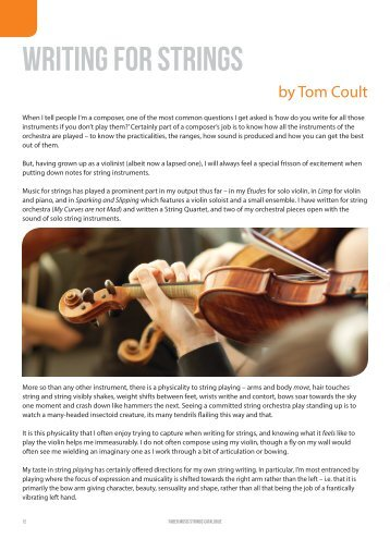 Writing for Strings by Tom Coult