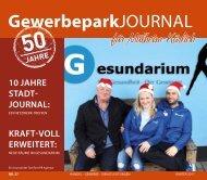 GewerbeparkJournal Ausgabe Winter 2017