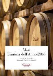 - Masi - Cantina dell'Anno 2018 Gambero Rosso