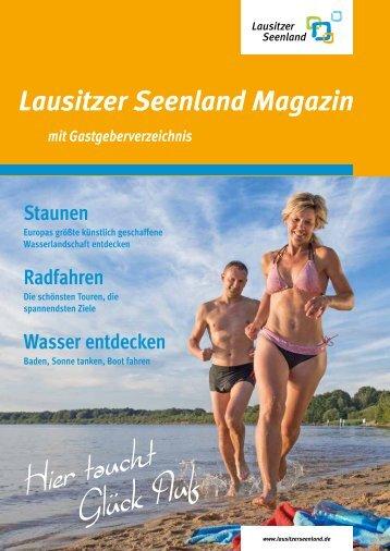 Lausitzer Seenland Magazin mit Gastgeberverzeichnis 2018-19