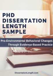 PhD Dissertation Length Sample