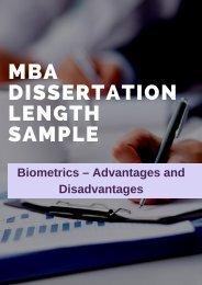 MBA Dissertation Length Sample