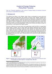 Control of Foreign Fisheries Policy Brief: Tanzania - TECA