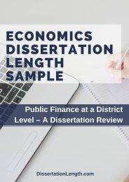 Economics Dissertation Length Sample