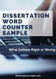 Dissertation Word Counter Sample