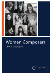 OUP Women Composers Choral Catalogue