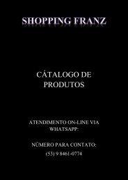 SHOPPING FRANZ CATALOGO PRONTO EDITAVEL CERTO