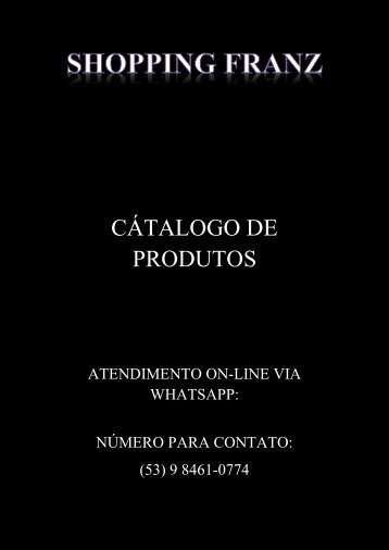 SHOPPING FRANZ CATALOGO PRONTO EDITAVEL CERTO