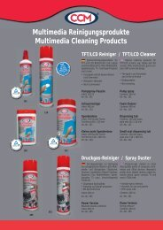 Multimedia Reinigungsprodukte Multimedia Cleaning Products