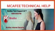 McAfee Technical Helpline 1800-445-2790 McAfee Support number