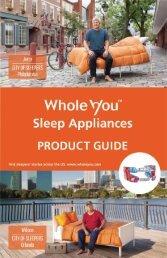 Whole You Sleep Appliances Product Guide