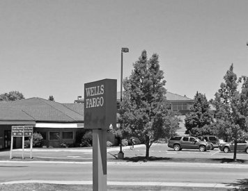 ATM (Wells Fargo Bank) few steps to the west of Post Falls dentist Woodland Family Dental