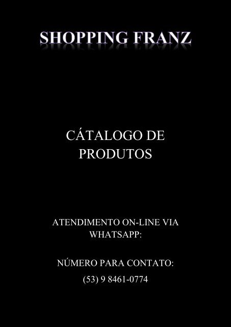 SHOPPING FRANZ CATALOGO PRONTO EDITAVEL