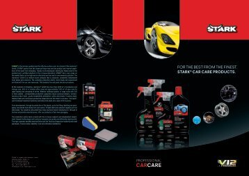 FOR THE BEST FROM THE FINEST. STARK® cAR cARe pRoducTS.