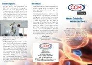 Wenn Gebäude krank machen... - CCM GmbH - Creative Chemical ...