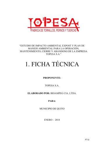 EsIA Topesa S.A.