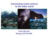 A new approach to ocean management and conservation - Biology ...