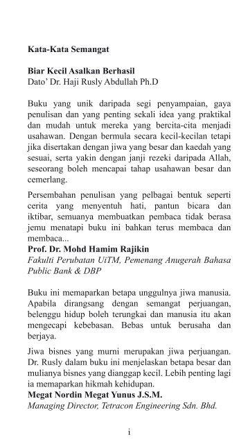 BIAR KECIL ASALKAN BERHASIL - EDISI JIMAT - DR RUSLY ABDULLAH (2009)