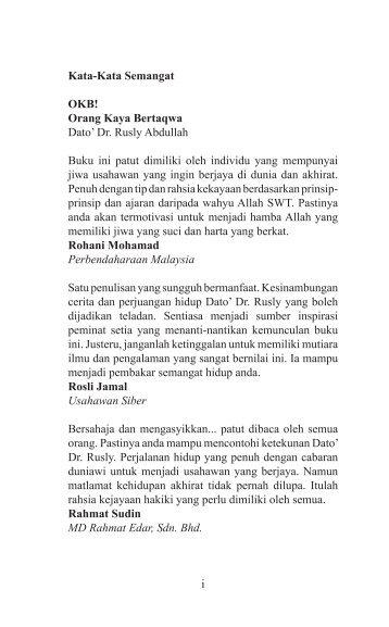 OKB! ORANG KAYA BERTAQWA - EDISI JIMAT - DR RUSLY ABDULLAH (2009)