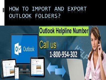 How to Import and Export Outlook folders