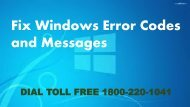 Fix Windows Error Codes and Messages Dial 18002201041