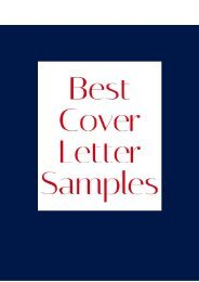 Best Cover Letter Samples