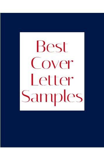 Best Cover Letter Samples