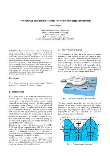 Wave power conversion systems for electrical energy production