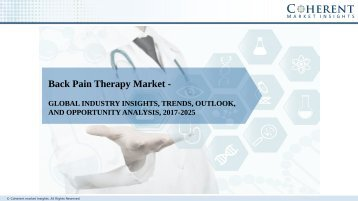 Back Pain Therapy Market - Global Industry Insights, Trends, Outlook, and Analysis, 2017-2025