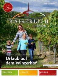 Kaiserlich Erleben, Ausgabe 1/2018