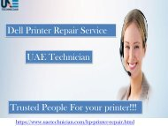 Dial +971-523252808 for the reliable support & service for Dell Printer Repair all over Dubai