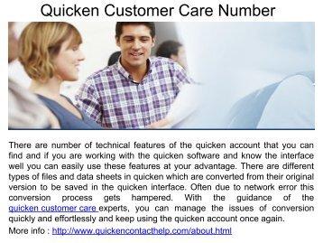 Quicken Software Service Number.