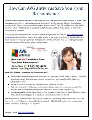 How Can AVG Antivirus Save You From Ransomware?