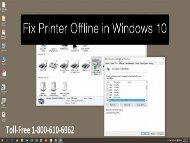 Call 1-800-213-8289 to Fix Printer Offline Error