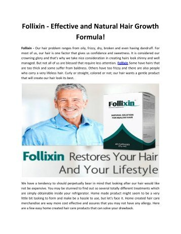 Follixin - Get Thicker, Stronger & Longer Hair Naturally!