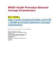 NR501 Health Promotion Behavior Concept (Chamberlain)