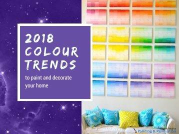 2018 colour trends