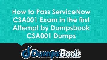 CSA001 Dumps