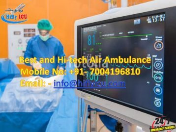 Hifly ICU provides Low-Cost Charter Air Ambulance Services from Bangalore and Varanasi