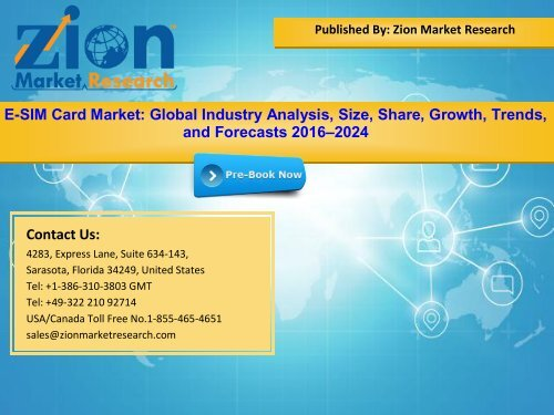 Global E-SIM Card Market, 2016–2024