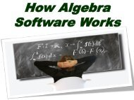 How Algebra Software Works